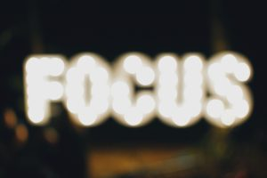 Focus in neon lights
